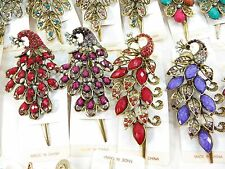 US SELLER-wholesale 10 alligator hair clips antique vintage victorian peacock