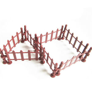 7pcs Military Fence Rail Board Toy Soldier Accessories Railway building kit B^KN