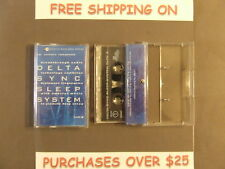 DELTA SYNC SLEEP SYSTEM TWO CASSETTE SET BRAINWAVE ACOUSTIC RESEARCH AMBIENT
