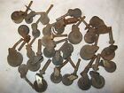 LOT OF ANTIQUE FURNITURE WOOD CASTERS WHEELS ROLLERS