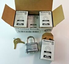 (6) Master Lock No. 1 Commercial Hardened Steel Padlocks Box New Lot 68559