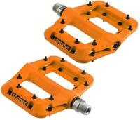 "Race Face Chester Pedals Platform Mountain Bike Pedal,9/16"",Orange,1 pair"