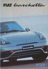 FIAT BARCHETTA 1.8 16V 1997-99 ORIGINALE UK SALES BROCHURE PUB. NO. A1202