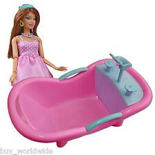 Bathroom Bathtub Shower 1:6 Scale for Barbie Monster High Doll's House Miniature