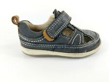 Clarks First Shoes Infant Boys Navy Leather Shoes Uk 4 G