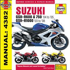 Suzuki GSXR600 GSXR750 GSXR1000 03-08 Haynes Manual NEW