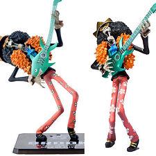 "Anime One Piece Zero Brook New World With Guitar 18cm/7"" PVC Figure Figurine Toy"