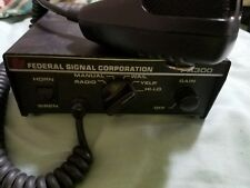 Federal Signal GOOD condition  PA300 old 12 pin version
