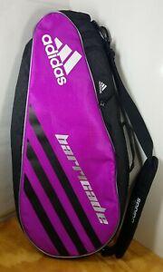 Adidas Barricade Tennis Racket Travel Bag Fresh Pak ClimaCool Purple Black EUC