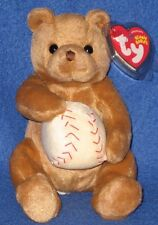 TY SHORTSTOP the BEAR BEANIE BABY - MINT with MINT TAGS
