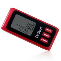 Pedometer / Calorie Counter - Daffodil HPC650 - Step Counter With Memory - Red
