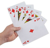 "GIANT SUPER JUMBO 5"" X 7"" PLAYING CARDS NICE QUALITY LARGE HUGE PARTY GOODY BAG"