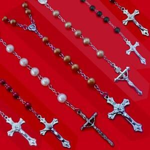 Gesù Croce Catena Collana Madonna Rosario Perle Ypsilonkette