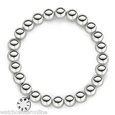 TI SENTO Milano 2644SI Rhodium Plated .925 Sternling Silver Bead Bracelet