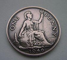 1946 penny coin.  British. Pre-decimal. 71st birthday /celebration gift.