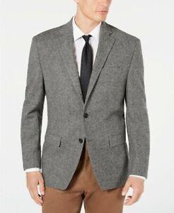 $375 Lauren Ralph Lauren Classic Flex Black/White Herringbone Sport Coat 48L