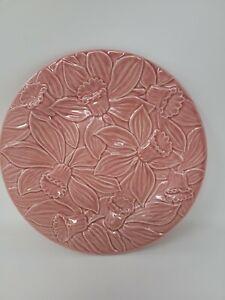 """Bordallo Pinheiro Pink Daffodil Plate 9.25"""""""