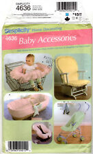 "©2005 UNCUT Simplicity Home Decorating Sewing Pattern # 4636 ""Baby Accessories"""