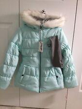 Jessica Simpson Girl Puffer Coat S7/8 Aqua
