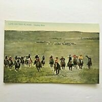 Postcard Tuck Cowboy Race Life On The Plains No 6017 Vintage Rapho Type