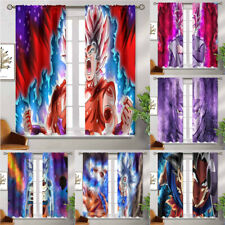 "Dragon Ball 2PCS Curtain Panel Thermal Insulated Window Drapes 63"" 84"" 95"" 108""L"