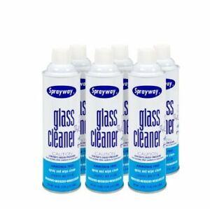 Sprayway 19-oz. Glass Cleaner Aerosol Spray - 6 Cans
