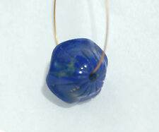ONE (1) CARVED LAPIS LAZULI FOCAL BEAD - 8415 - 16x15MM