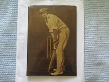 DON BRADMAN PHOTOGRAVURE?? PLASTIC COVERED PHOTOGRAPH ON TIN REGd DESIGN c1940