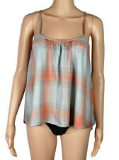 Cloth & Stone Dusk Swing Cami Top Plaid Small NEW Anthropologie Camisole