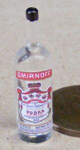 1:12 Scale Vodka Label On A Glass Bottle Tumdee Dolls House Miniature Accessory