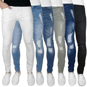 Fremont & Harris Men's Ripped Super Skinny Fit Stretch Denim Jeans - 6 Colours