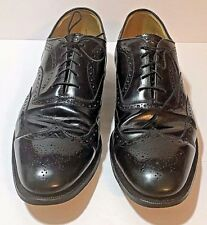Johnston Murphy Size 14 Black Leather Aristocraft Wing Tip Brogue Oxfords EU 48
