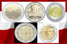 5 x 2  Euro Sondermünzen 2018 Frankreich,Litauen,Luxemburg, Finnland, Slowenien