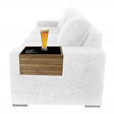 Bamboo Sofa Arm Tray Table Arm Rest Protector Universal Drink Holder Side Table