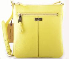 COLE HAAN Village CROSSBODY Ice Lemon yellow Swing pack Sling Shoulder Bag S Nwt