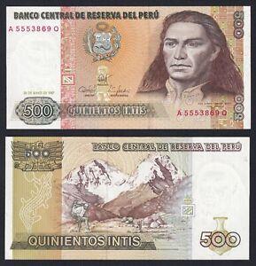 Perù 500 intis 1987 FDS/UNC  A-06