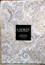 Ralph Lauren 100% Cotton Fabric Shower Curtain Tara Paisley Natural 70 x 72 NWT
