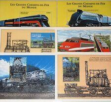 GABON GABUN 2000 Block 110-15 Railroad Locomotives Züge Trains Eisenbahn MNH