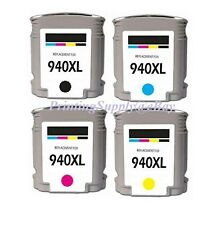 4PK New Hi-Yield BK/C/M/Y Ink For HP 940 XL OfficeJet Pro 8500A Series 8500 8000