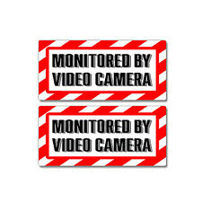 Monitored By Video Camera Sign - Window Business Sticker Set