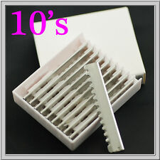 10's Hairdressing Salon Stainless Steel Styling Shaping Razor Blade #RB_10S