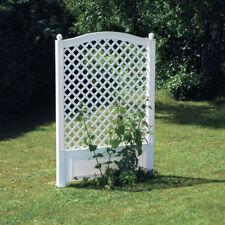 Sichtschutz Spalier 100 cm mit Erdspieß KHW Blumenspalier Pergola NEU