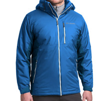NEW COLUMBIA SNOW SHOOTER BLUE WATERPROOF JACKET MENS L INSULATED FREE SHIP
