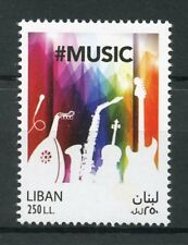 Lebanon 2017 MNH Music Day Musical Instruments Guitar Violin 1v Set Stamps