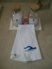 Personalized Sports Towel with Grommet & Hook with swimming design