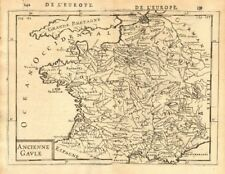 ANCIENT GAUL Gallic tribes Roman towns 'Ancienne Gaule' France. MALLET 1683 map