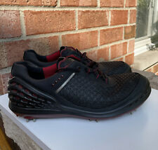 New listing Men's ECCO Hydromax Natural Motion Spikes Golf Shoes Size 42 Extra Width 8/8.5