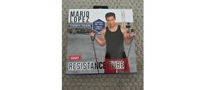 Mario Lopez HEAVY RESISTANCE TUBE Strength Training Tone + Shape Flexibility NEW