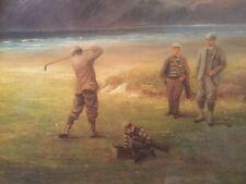 "Fine Art Large Ltd Ed DOUGLAS ADAMS Golf/Golfing Print ""The Drive"" Conwy Links"