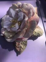 Antique Vintage flower millinery , velvet, Beauty!